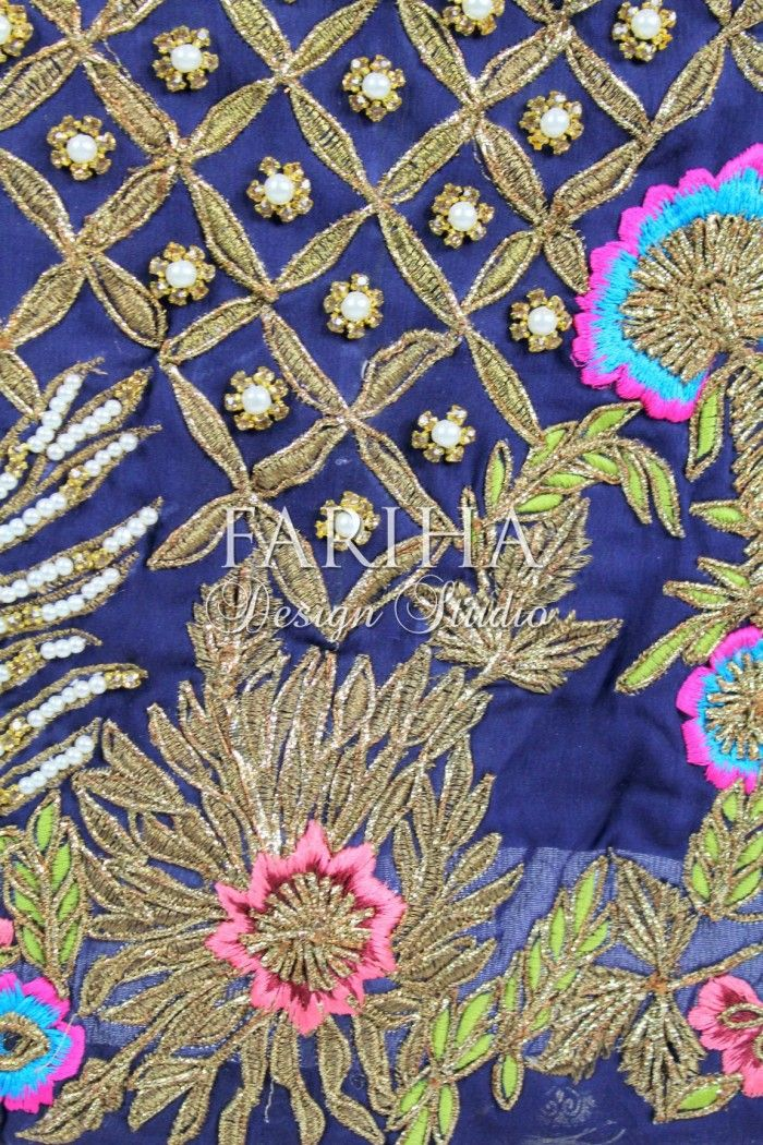 NAVY BLUE WITH BEAUTIFUL HAND WORK