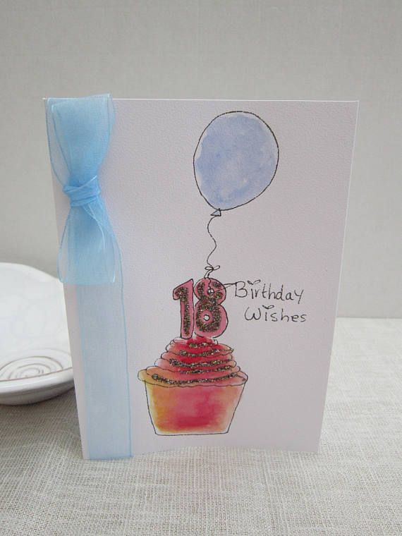 Watercolour Card 18th Birthday Card Son 18th Birthday 16th Etsy 18th Birthday Cards Cool Birthday Cards Birthday Cards