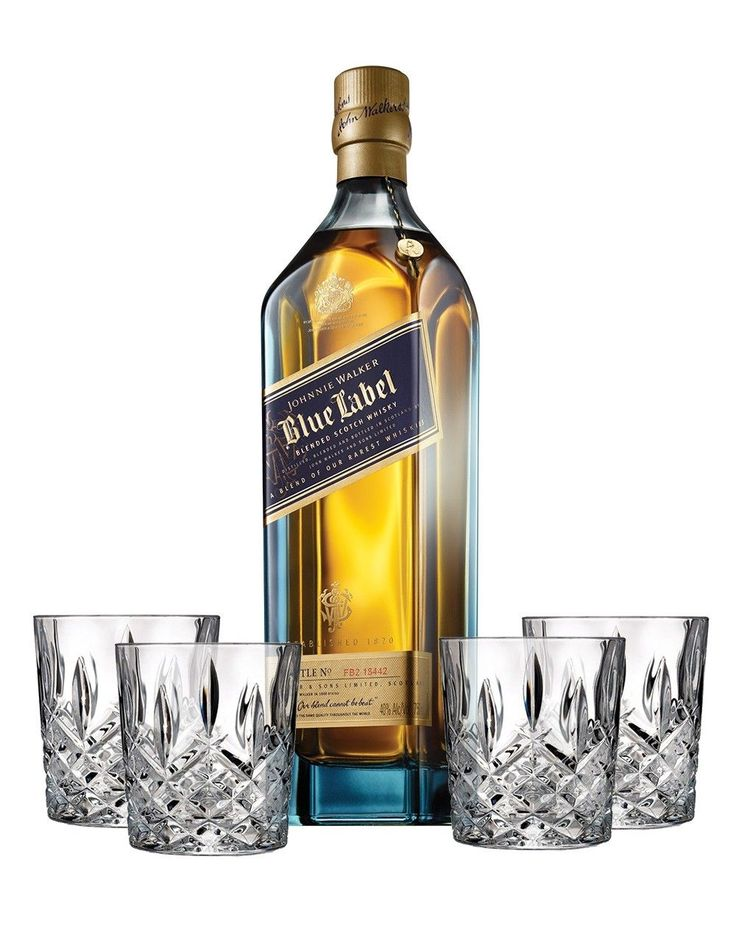 Johnnie walker blue label with 4 markham marquis by