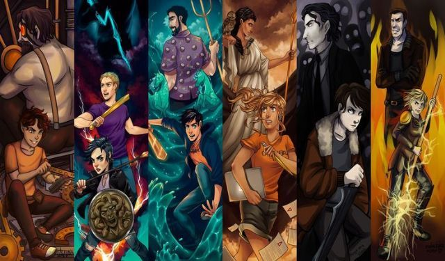 leo and hephaestus; zeus, thalia and jason; poseidon and percy; athena and annabeth; hades and nico; ares and clarisse