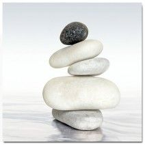 Black & White Zen, Original (Square) art on canvas from http://www.thecanvasartfactory ships worldwide!  #art #stones #spirituality #calm #peace #focus #black #white #photography #home #decor #wallart
