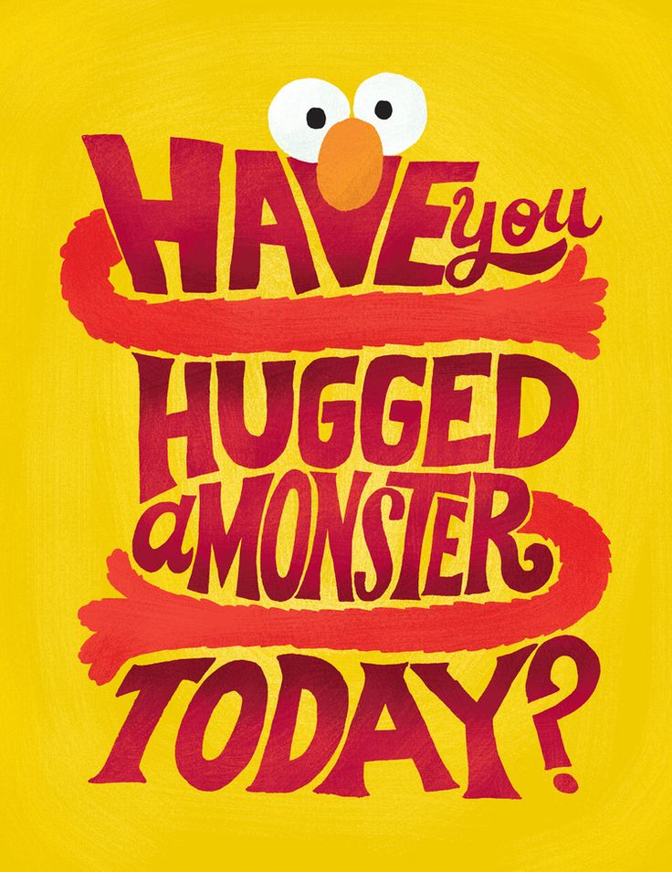 Mary Kate McDevitt - Sesame Street Posters: Elmo - Have you hugged a monster today?