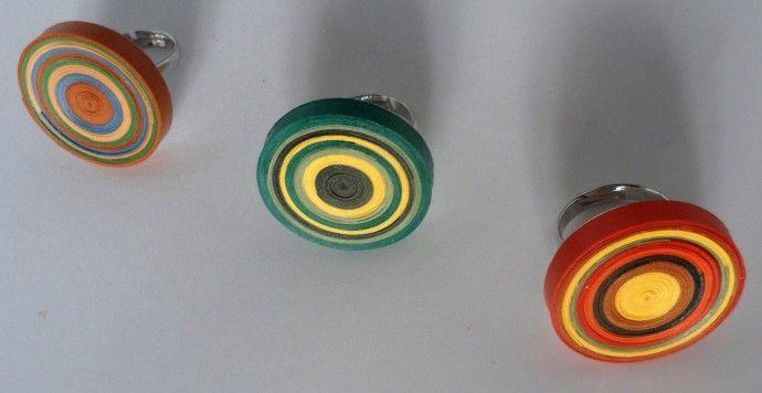 anelli quilling girandola / quilling swirl rings
