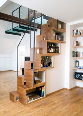 Stair Bookcase by Atelier SAD