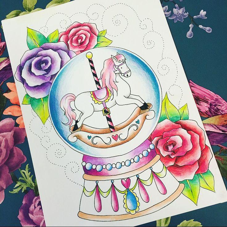 Carousel horse globe tattoo design