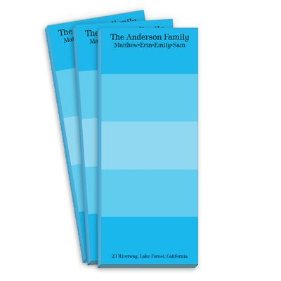 Blue Multi Striped Skinnie Notepads: Striped Skinnie, Skinnie Notepads, Catalog, Blue Multi