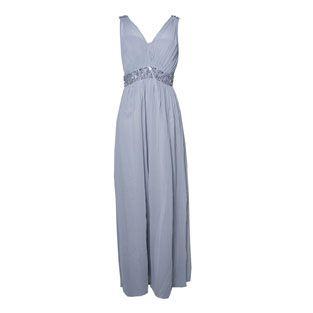 Max and Lola Silver pearl waist Dress