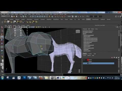 low poly horse modeling - YouTube