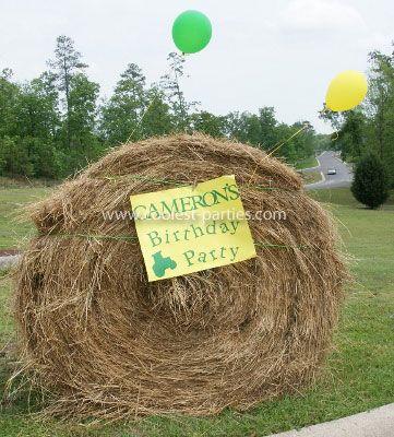 tractor birthday party idea