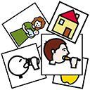 Página con pictogramas para SAAC y que se pueden usar para conciencia semántica, infantil, lectura de palabras...