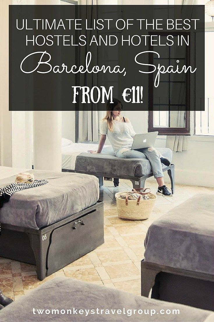 Ultimate List of The Best Hotels and Hostels in Barcelona, Spain – From €11! Barcelona, Spain is nearly on everyone's must-see travel bucket list and usually, this magnificent and artistic city packs a lot of backpackers and travelers alike. Depending on your budget, there are tons of options for you in Barcelona. Just walking around will fascinate you already and if ever you end up in this beautiful city, make sure you always look up. Barcelona's beauty is on its mysterious architecture.