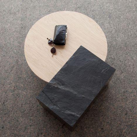 Bench, Table and Newspaper Rack par Natalie Weinmann | Artibazar - Actualités du design mobilier