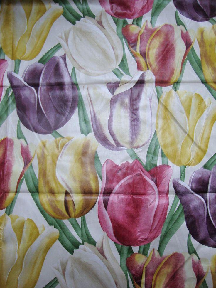 270cm SANDERSON Early Tulips vintage print cotton chintz curtain fabric