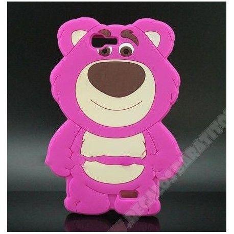 Carcasa divertida diseño 3D oso rosa para Huawei Ascend G7