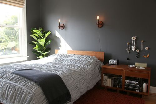 paint color: gorgeous dark, warm taupey gray color, otherwise known as Benjamin Moore's Iron Mountain
