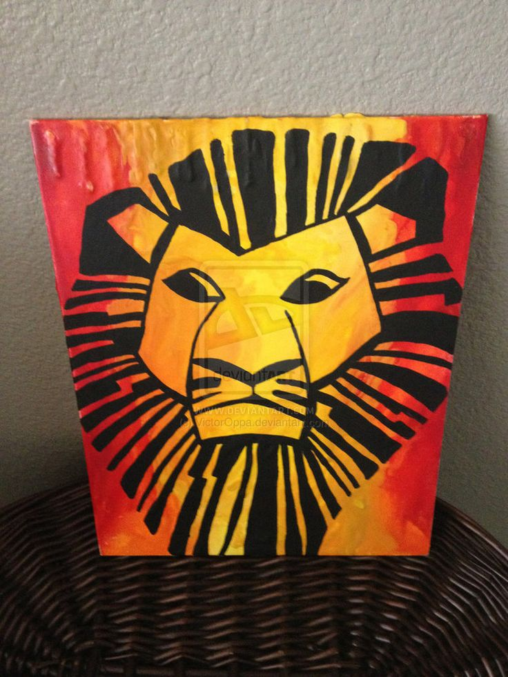 We can have a lion king themed bathroom. Literally. We have blue and orange and we can make canvases like these it will be perfect. Also be prepared for a bunch of lion king canvases. If you hate it we can remove them later.
