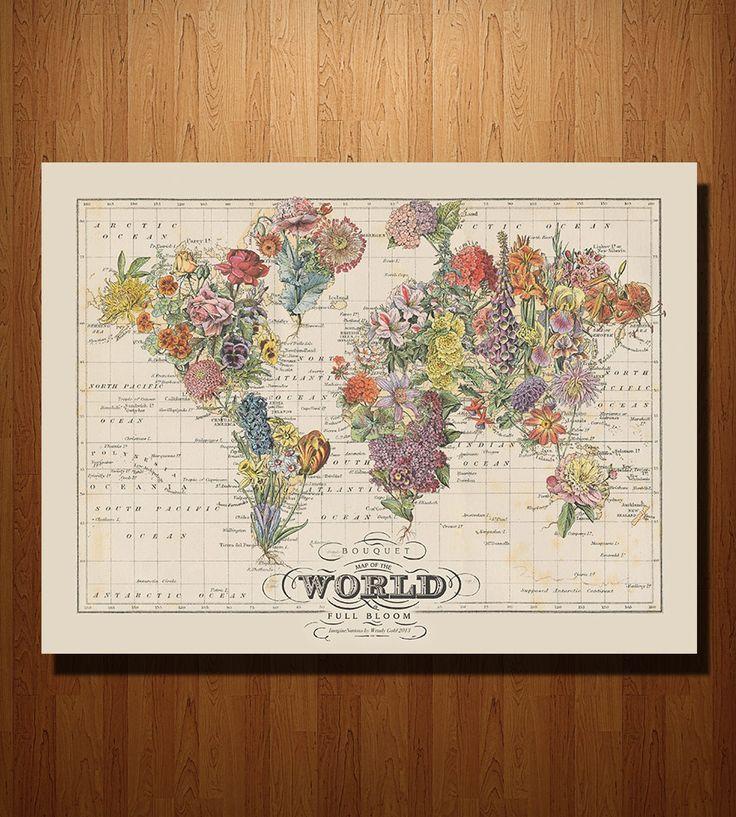 Bouquet Map Print 20 best Maps images