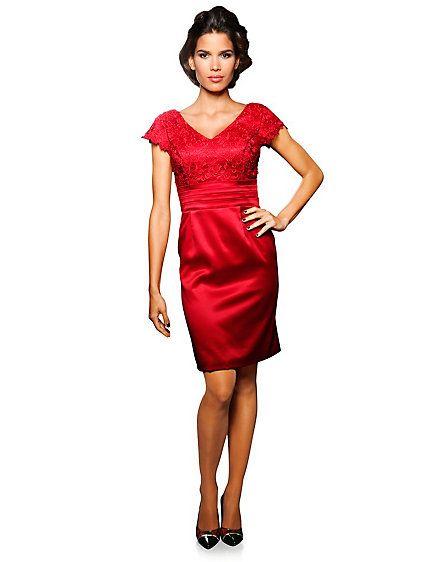 ashley brooke event spitzenkleid rot im heine online shop kaufen dresses pinterest. Black Bedroom Furniture Sets. Home Design Ideas