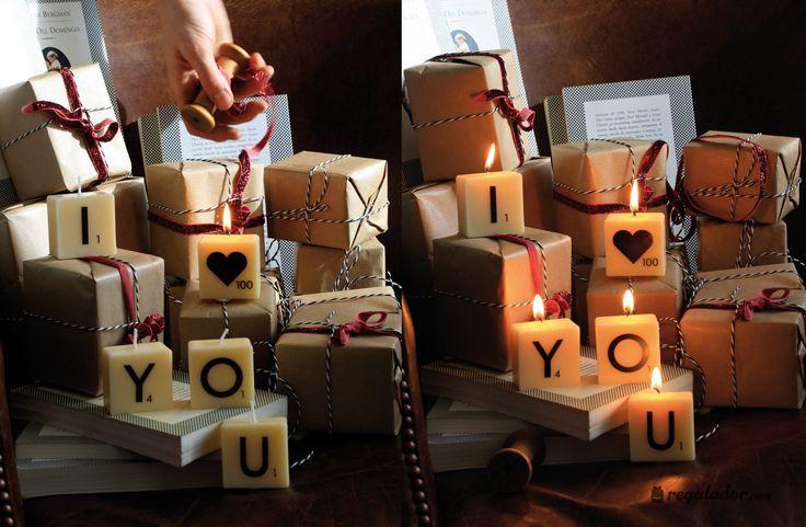 Velas pequeñas Scrabble para crear tu propio mensaje