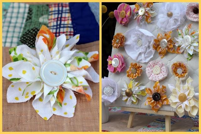 46 fabric flower tutorials.