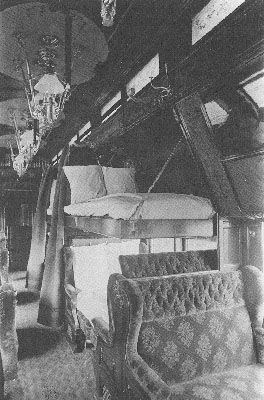 Interior of a Pullman Sleeping Car in 1890 (Pullman photo)  I lived in one of these.. <3