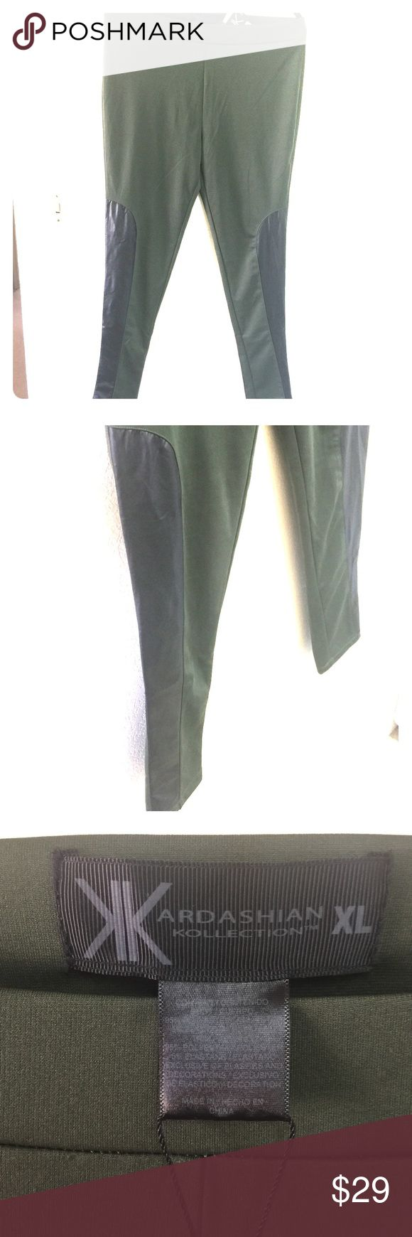 Kardashian Kollection Leggings XL Kardashian Kollection leggings. Army green color. XL Kardashian Kollection Pants Leggings
