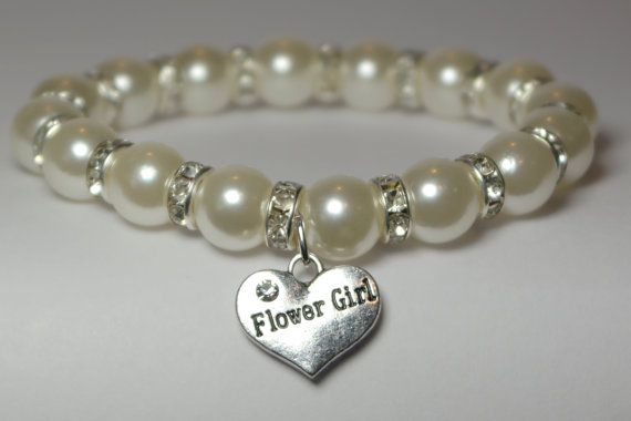 flower girl bracelet  will you be my flower by awesomeyoujewelry