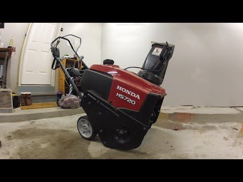 How to fix a snow blower that won't start - Honda HS720AS