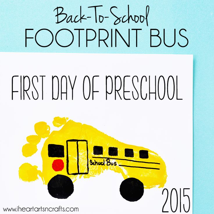 What better keepsake to have for the first day of school than some handprint and footprint art! I still have another year before my oldest starts preschool, but I thought these would be perfect for his first day. Here's a handprint apple with a thumb worm and a footprint school bus, check out tutorials below …