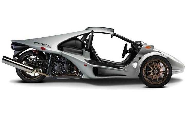 T-Rex trike. I've wanted one of these for years. Looks like a race car but actually a motorcycle. Faster models go 0-60 in 2.9 seconds.