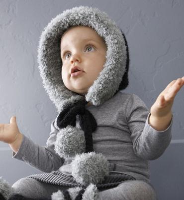 Inspiration: Wool winter bonnet - Phildar