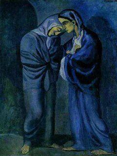 """Pablo Picasso ( période bleue)  """"Las dos hermanas"""" (1904)"""