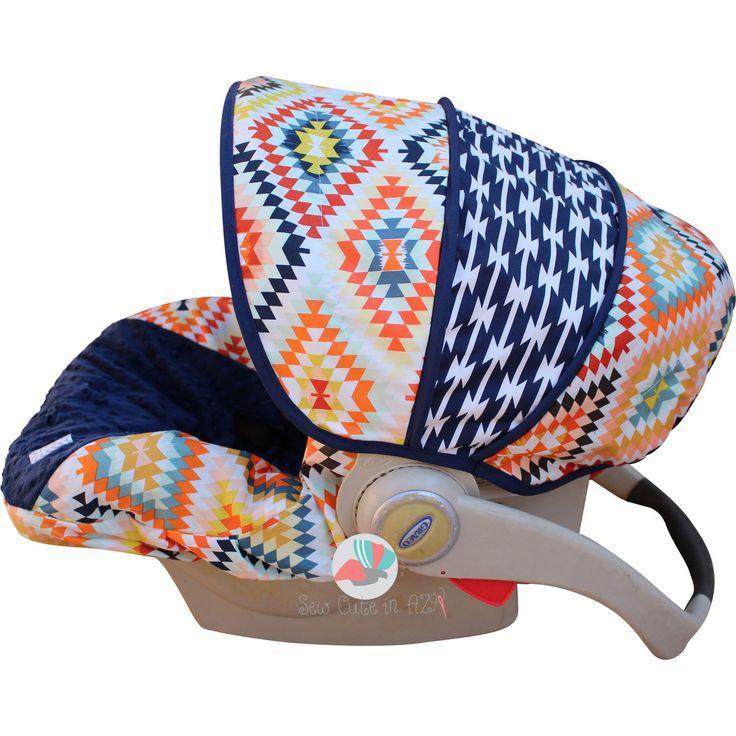 Serape Fervor Infant Car Seat Cover by sewcuteinaz on Etsy https://www.etsy.com/listing/243581006/serape-fervor-infant-car-seat-cover