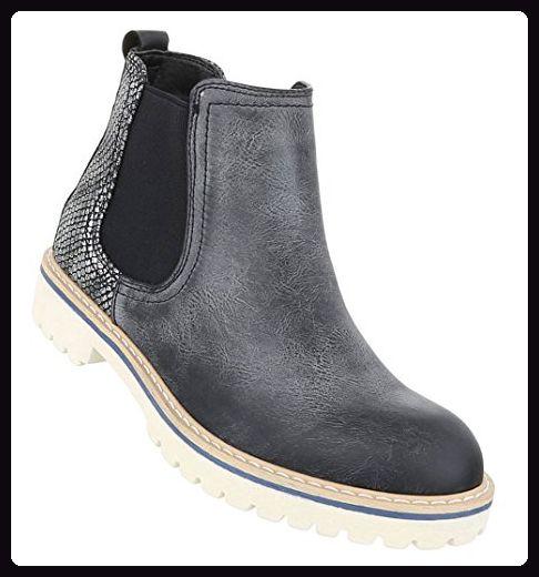 Aktuelle Damen Stiefeletten Schuhe Used Boots 3759 Grau 38