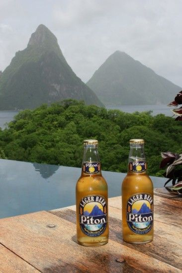 Friday Happy Hour: Picture-Perfect Piton Beer | St. Lucia | Uncommon Caribbean