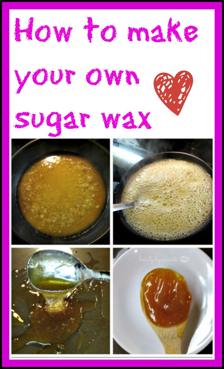 Super EASY sugar wax you can make right at home (you probably have ALL the ingredients you need right in your cupboard) Plus you can reuse the wax over and over again, so no pending $$$ on waxing strips OR expensive trips to the salon. PIN NOW!