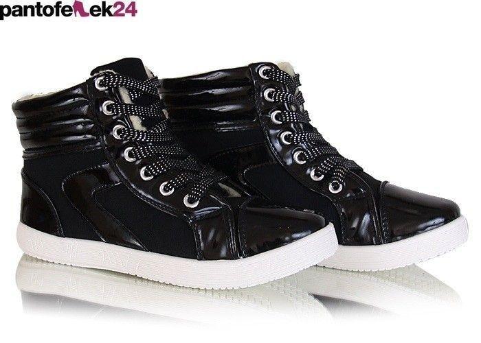 Czarne trampki/ Black sneakers  / 34,90 PLN #sneakers #summer #black #trampki #crystals #lato #spring #wiosna