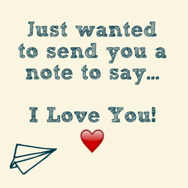 Just To Say I Love You