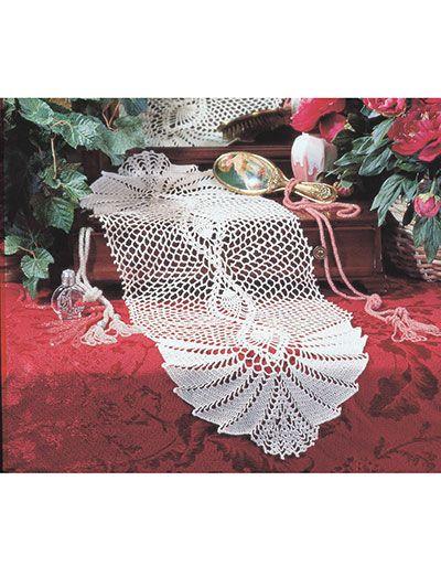 Crochet - Kitchen Patterns - Table Toppers - Pineapple Swirl Runner