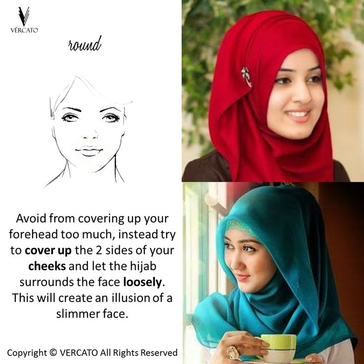 Hijab Tips for ROUND face shape. SHOP MUSLIMAH WEAR: www.vercato.com