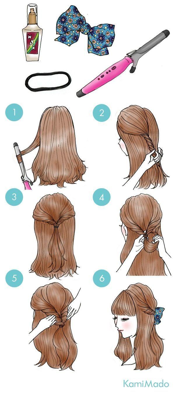 cabelo preso com laço