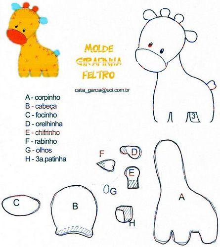 Molde jirafa