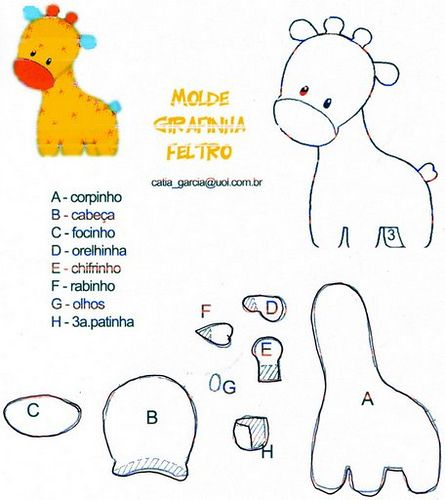 DIY Felt Giraffe - FREE Pattern / Template