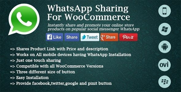 Plugin Social & WhatsApp Sharing For WooCommerce 2.0
