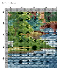 Reconstructed from a 19th century original, and could be done in tent stitch, or cross stitch.  Stitches: 150 х 170 Colors: 55 Size: 27.21 x 30.84 cm on 14ct  Includes two PDF files with: Colored and BW symbol schemes List of DMC threads by color numbers and corresponding symbols.  Pattern for personal use only.