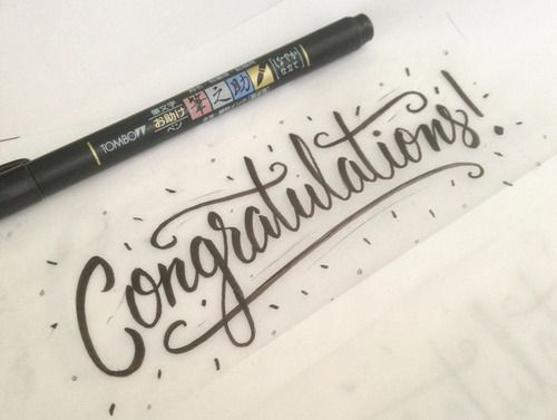 Congratulations Lettering #typography #inspiration #design