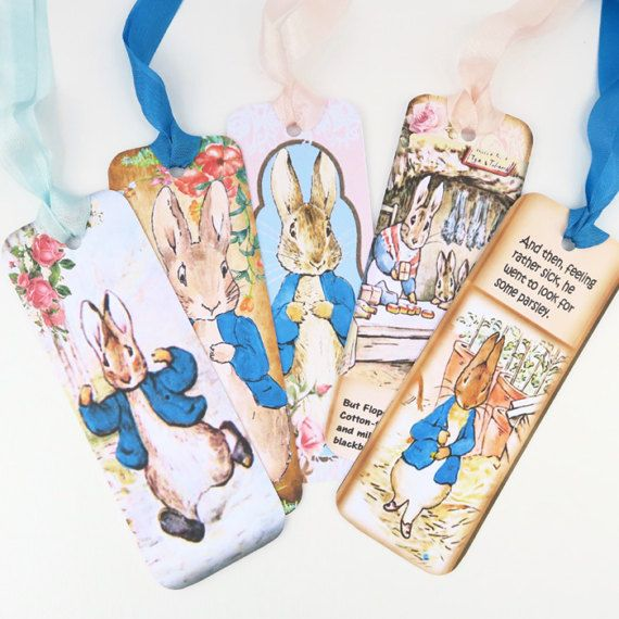 Bookmarks Peter Rabbit Vintage Retro Tag by EnchantedQuilling