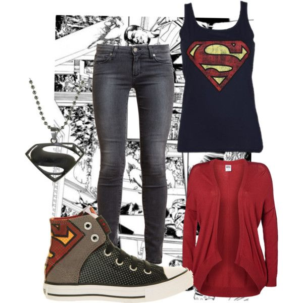 Sweet! I need this outfit! PLZ IF U KNO ME THEN GIVE THIS STUFF TO ME FOR MY BDAY IT'S LIKE THE NUMBER ONE THING I really just need the tank top, shoes, necklace oh and a superman hat!