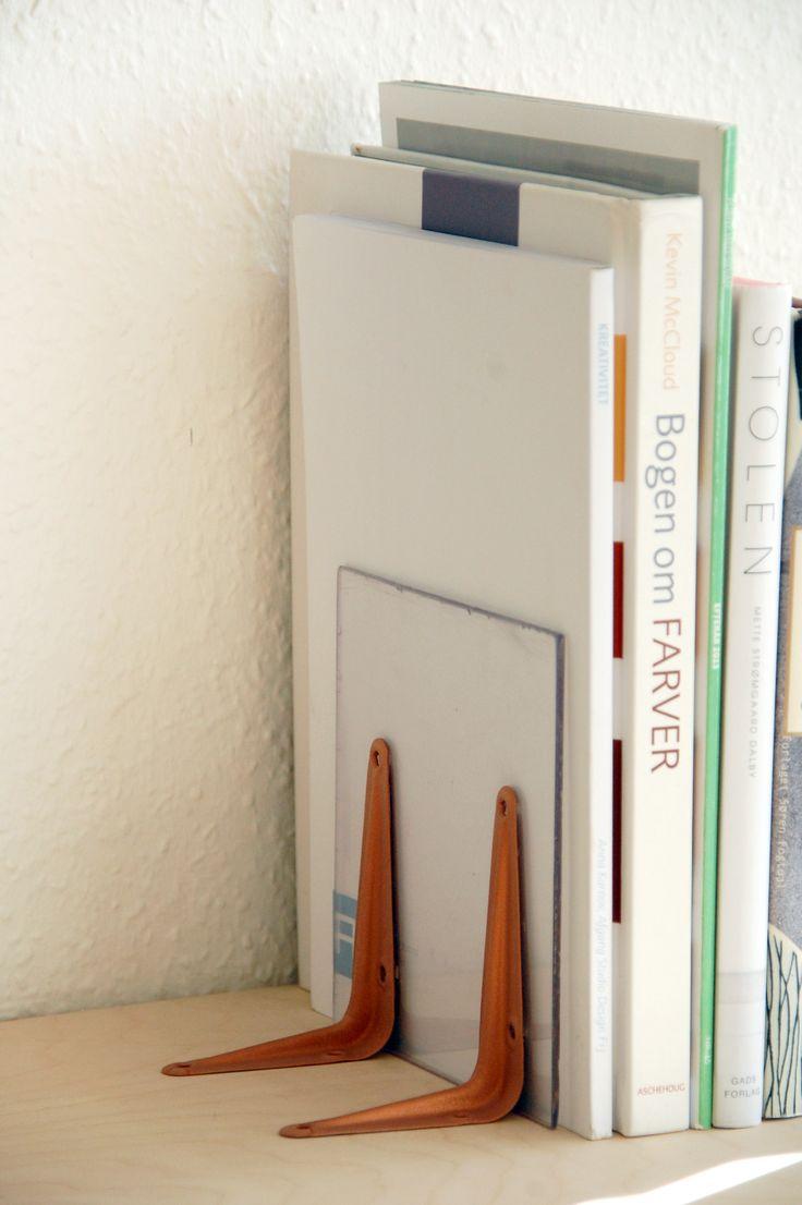 DIY minimalistic cobber bookends, Silvan Hacks by Anna Karnov