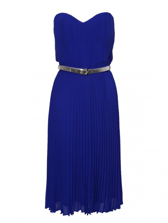Blue Pleated Bandeau Prom Dress | Dresses | Shop by Item | Clothing | Jane Norman 20